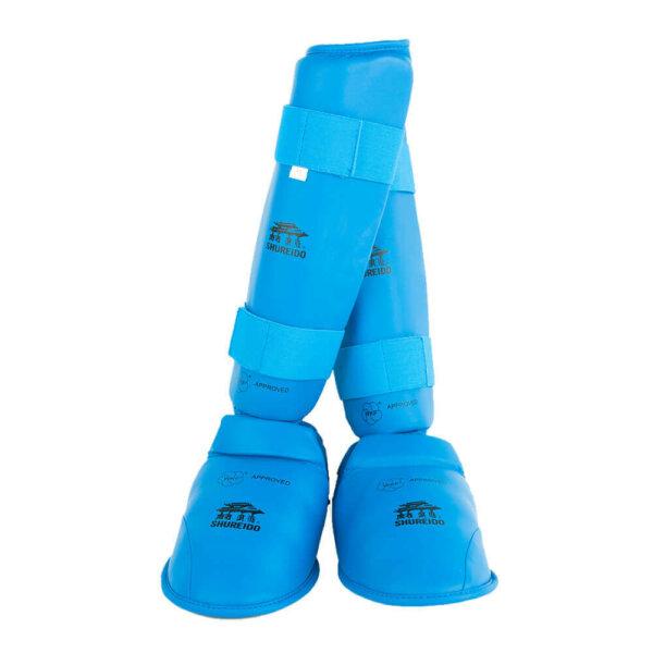 espinillera azul shureido karate wkf