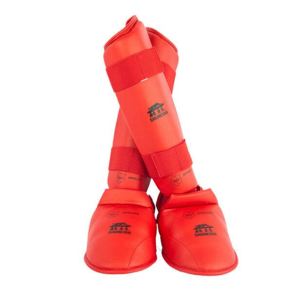 espinillera roja shureido wkf karate