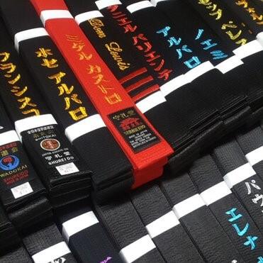 cinturones personalizados karate